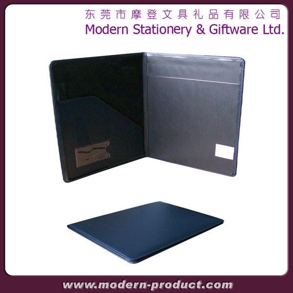 High quality black popular leather portfolio