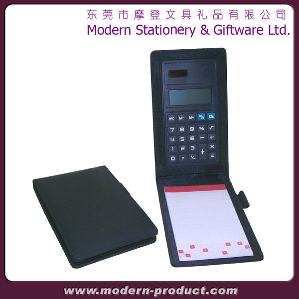 High quality small lether padfolio with calculator