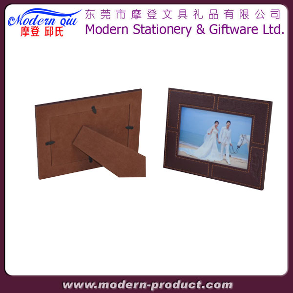 handmade leather photo frame
